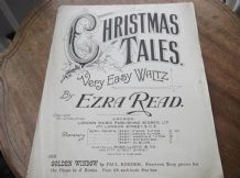 VINTAGE ORIGINAL SHEET MUSIC EZRA READ CHRISTMAS TALES VERY EASY WALTZ #139 RARE